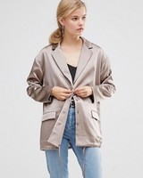 ASOS Satin Jacket with Draw Hem Detail