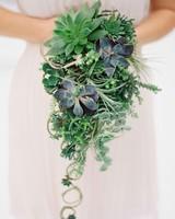 succulent cascading bouquet