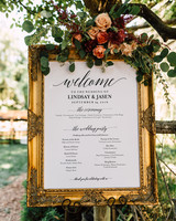 Ceremony Programs Vintage Frame