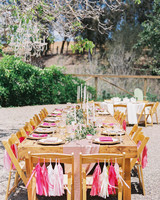 Chair Decor Pink Tassel Garland