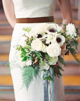 vintage white bouquet