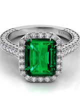 Danhov Emerald Engagement Ring