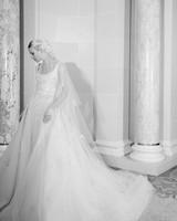 elie saab fall 2019 spaghetti strap floral applique trumpet wedding dress