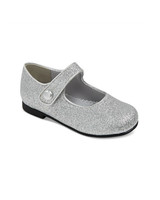 flower girl shoes silver sparkle