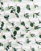 green wedding ideas lisa poggi escort cards