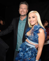 Gwen Stefani and Blake Shelton at the People's Choice Awards