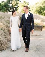 jena donny wedding couple holding hands