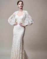 jenny yoo dress fall 2018 capelet lace sweetheart