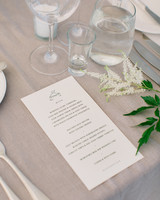 custom wedding reception menus