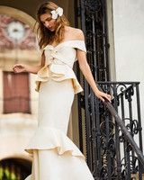 johanna ortiz moda operandi peplum mermaid off the shoulder wedding dress