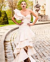 johanna ortiz moda operandi one shoulder ruffle wedding dress
