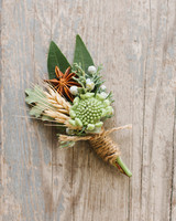 64 boutonnires you both will love martha stewart weddings julia dave wedding boutonniere 0414g junglespirit Images