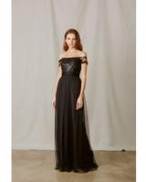lace bridesmaid dresses amsale black