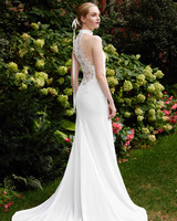 Lela Rose sheath halter wedding dress fall 2019