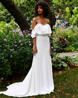 Lela Rose off the shoulder wedding dress fall 2019