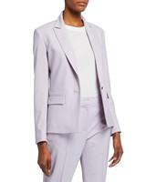 Wool Single-Button Blazer and Pants