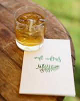 molly ed wedding cocktail napkin