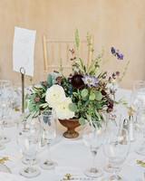 molly josh wedding floral centerpiece