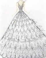 morilee wedding dress sketch