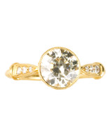 Old European Ring With Yellow Gold