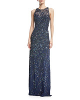 Jenny Packham Sleeveless Beaded Gown
