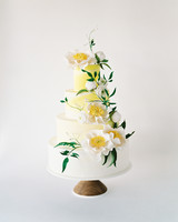 Yellow Color-Wash Wedding Cake, Fall Wedding Cake Trends