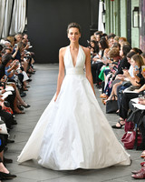 nouvelle amsale wedding dress spring 2019 v-neck a-line