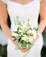small bouquet with white garden roses