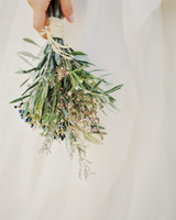 small bouquet with greenery