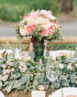 pink white flowers centerpiece