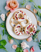 Pressed Flower Wedding Cookies