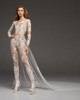 pronovias fall 2019 sheer jumpsuit wedding dress