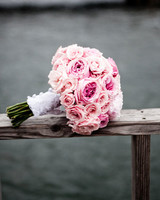 Pink Rose and Peony Wedding Bouquet