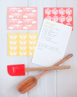 Colorful Recipe Cards for a Bridal Shower