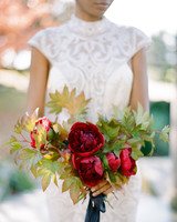 red wedding ideas rebecca yale bouquet
