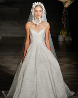 reem acra fall 2019 n-neck flora applique wedding dress