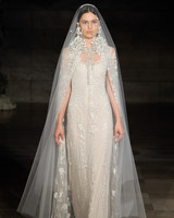 reem acra fall 2019 sheath floral applique beaded wedding dress
