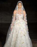 reem acra fall 2019 sheath strapless ballgown wedding dress