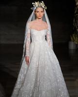 reem acra fall 2019 sheath flutter sleeves wedding dress