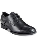 ring bearer shoes black leather straight line dress shoes