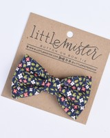 floral calico bow tie