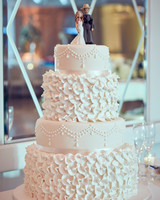 shqipe zenel wedding cake with couple topper