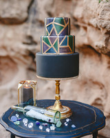 Small Wedding Cake with Geometric Details