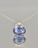 blue jewel pendant necklace