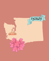 state wedding costs illustration washington