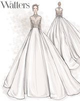 watters wedding dress sketch