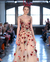 watters wedding dress spring 2019 blush a-line red heart details