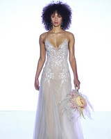 watters sheer spaghetti strap wedding dress spring 2020