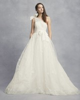 white vera wang spring 2019 wedding dress a-line one shoulder