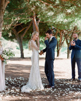 alex drew california wedding outdoor ceremony couple teary eyes